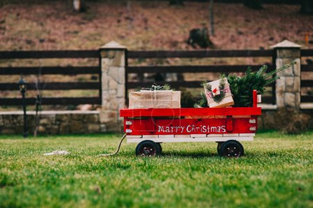 panier avec arbre de Noël