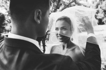 Happy couple on wedding