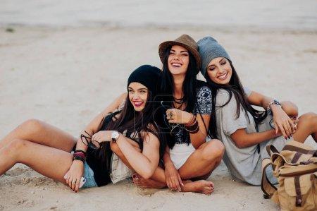 beautiful girls on beach