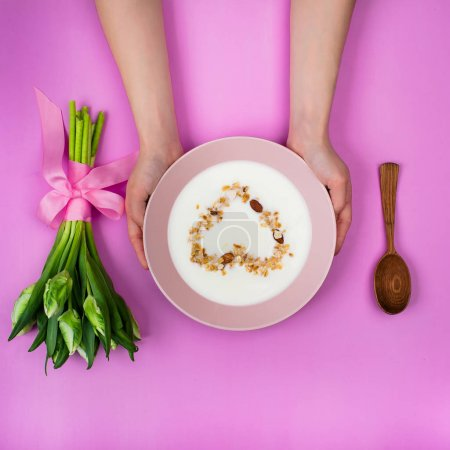 cereal bowl and flowers