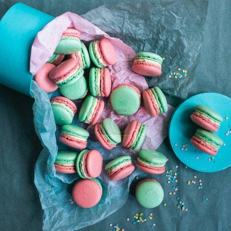 Sweet French macarons