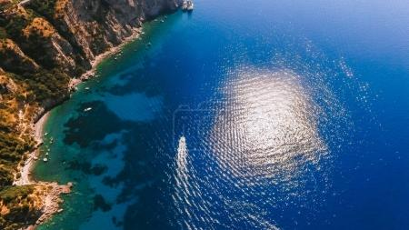 coastline of Italy is from the air