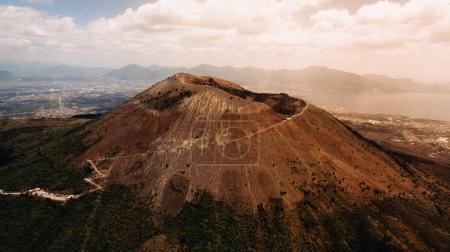 scenic view of Vesuvius volcano