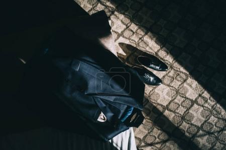 Groom set: Butterfly ,shoes ,Belts