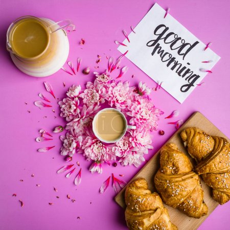 coffee and tasty croissants