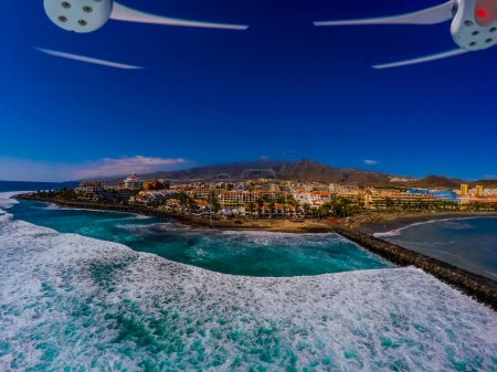 scenic view from the air, ocean, Tenerife