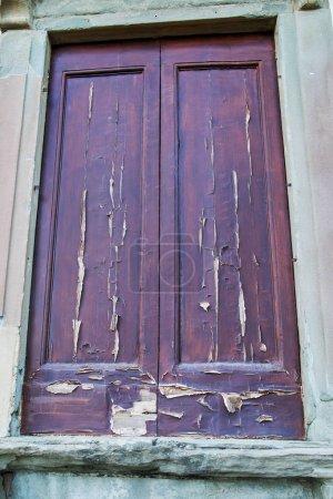 Old wooden vintage door.