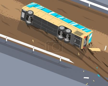 The bus overturned