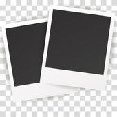 Collection of blank photo frames with adhesive tape different shadow effects and empty space for your photograph and picture EPS 10 vector illustration
