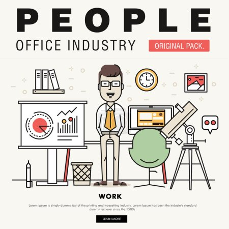 Modern office people industry. Coworking creative and meeting teamwork elements.