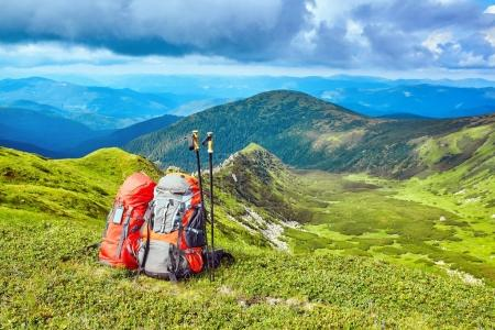 Photo for Hiking, the concept of an active lifestyle. - Royalty Free Image