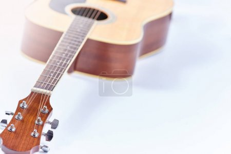 Photo for Classical acoustic guitar isolated on a white background - Royalty Free Image