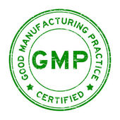 Grunge green GMP certified rubber stamp