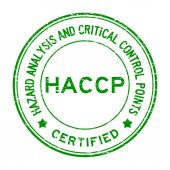Grunge blue HACCP (Hazard Analysis and Critical Control Points)