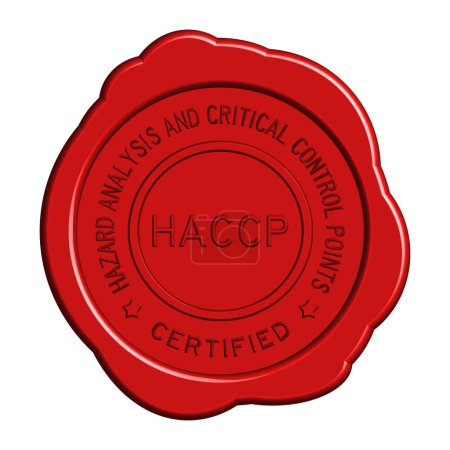 Red HACCP (Hazard analysis and critical control points) round wa