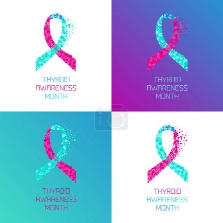 Thyroid awareness ribbon set