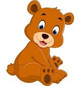 Kreslené vtipné medvěd
