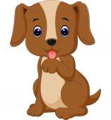 Roztomilý pes kreslený