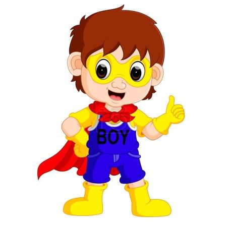 Illustration for Illustration of superhero boy cartoon - Royalty Free Image