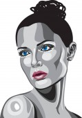 Metallic Women Face vector