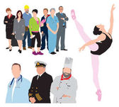 occupations workers illustration vector