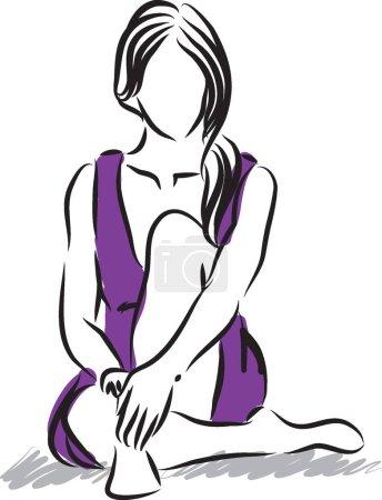 Illustration pour Femme illustration vecteur fitness - image libre de droit