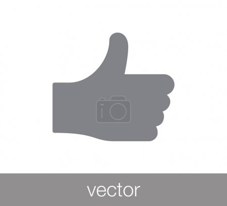 Positive icon. thumbs up icon.