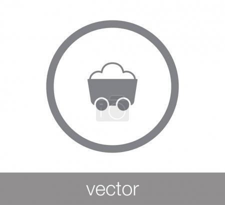 Illustration pour Icône de chariot à charbon, illustration vectorielle - image libre de droit