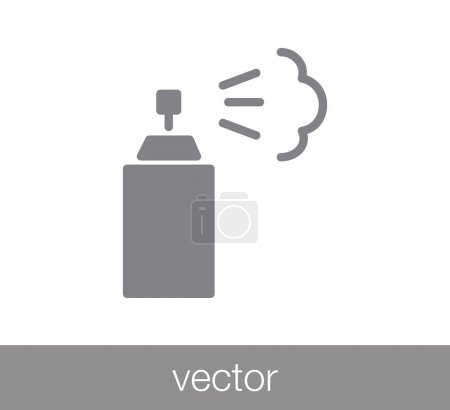 Illustration for Spray flat icon for web design and applications - Royalty Free Image