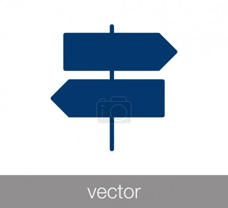 Crossroad sign icon.