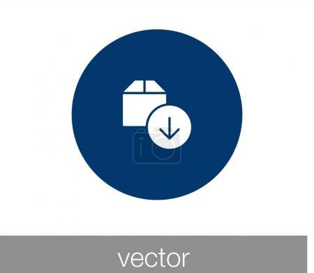 Box icon. Cargo box icon.