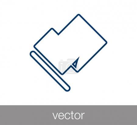 Flag icon. Start concept icon.