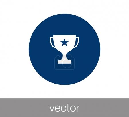 Trophy simple icon