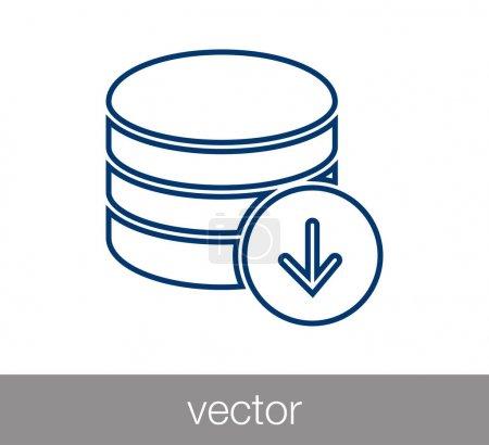 Illustration pour Icône serveur. icône du centre de données. icône de stockage . - image libre de droit