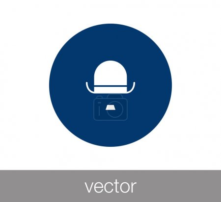 Gentleman's hat icon
