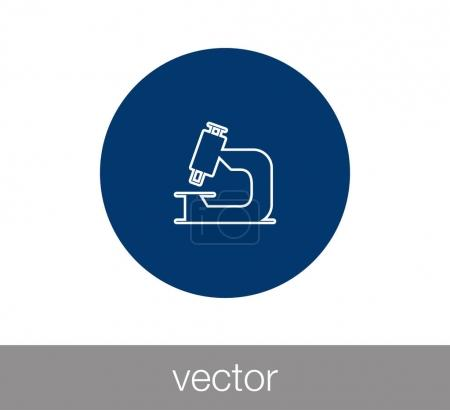 Illustration for Microscope flat icon, vector illustration - Royalty Free Image