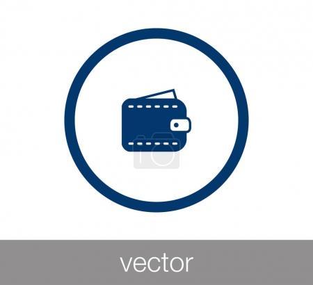 Wallet icon  illustration