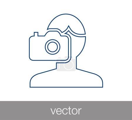 Photographer flat icon.