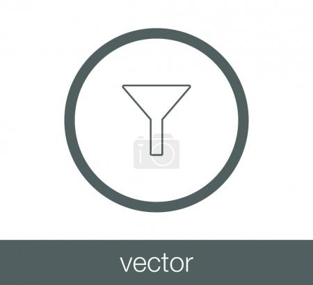 Funnel flat icon