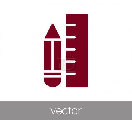 Ruler flat icon