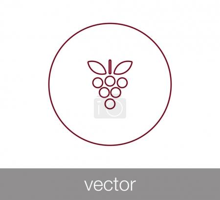 design of grapes icon