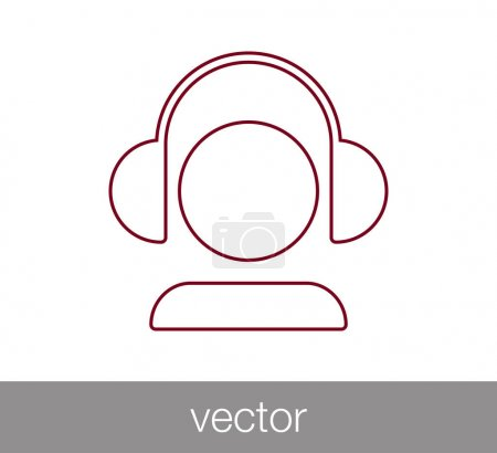Earphones simple icon