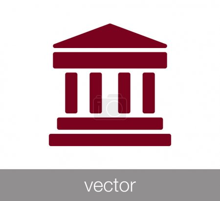 University or bank icon.