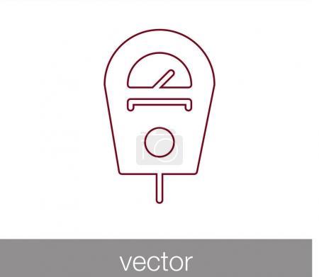 Parking ticket machine icon