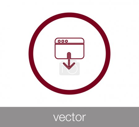Window icon. Programming icon. Coding icon. Code window icon. Br