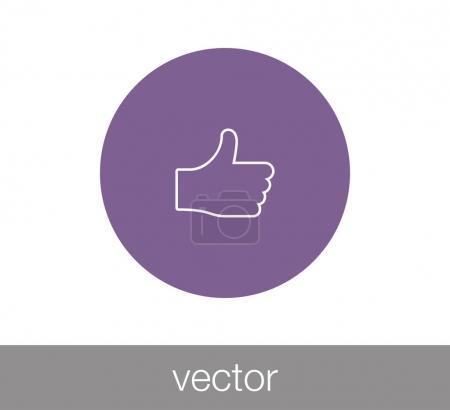 Thumb up symbol icon