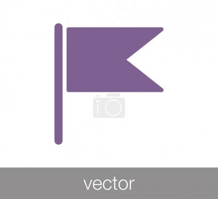 Flag simple icon