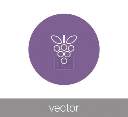 grapes simple  icon