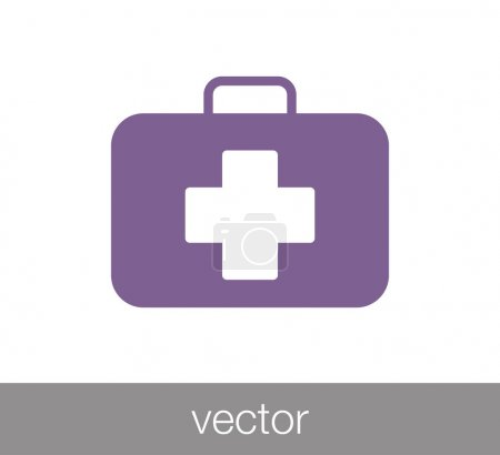First aid kit icon.