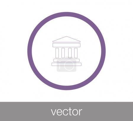 University icon. Bank icon.